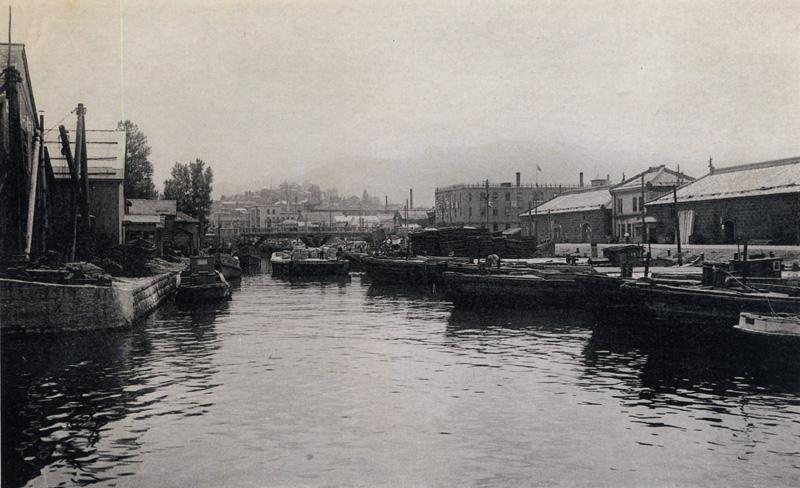 昭和初期の小樽運河