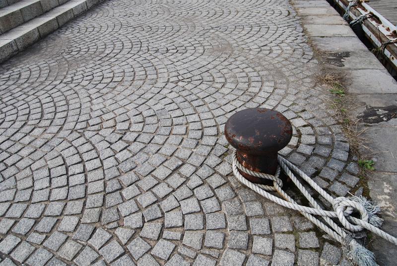 運河散策路の石畳