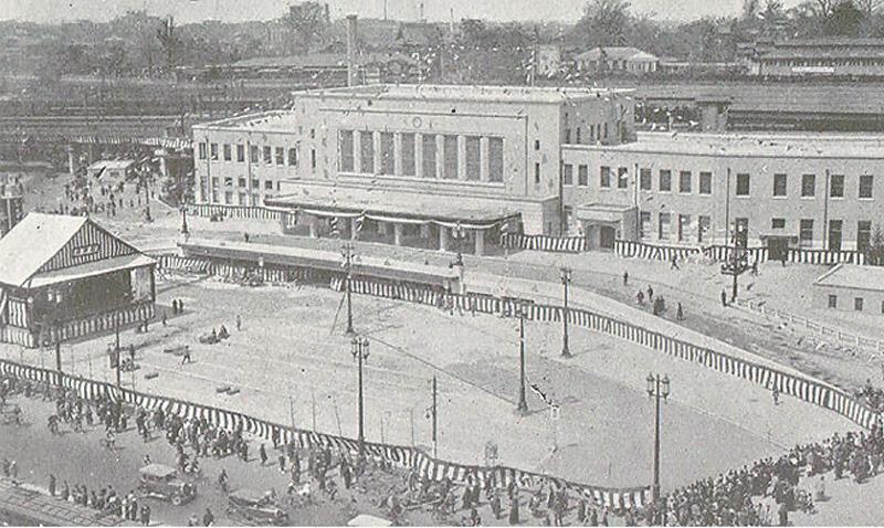 落成式当日の新上野駅舎(1932年4月3日)