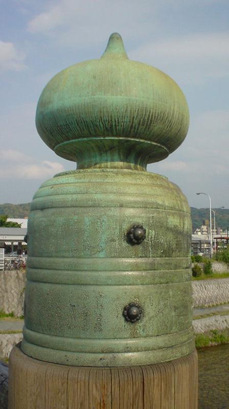 京都三条大橋の擬宝珠