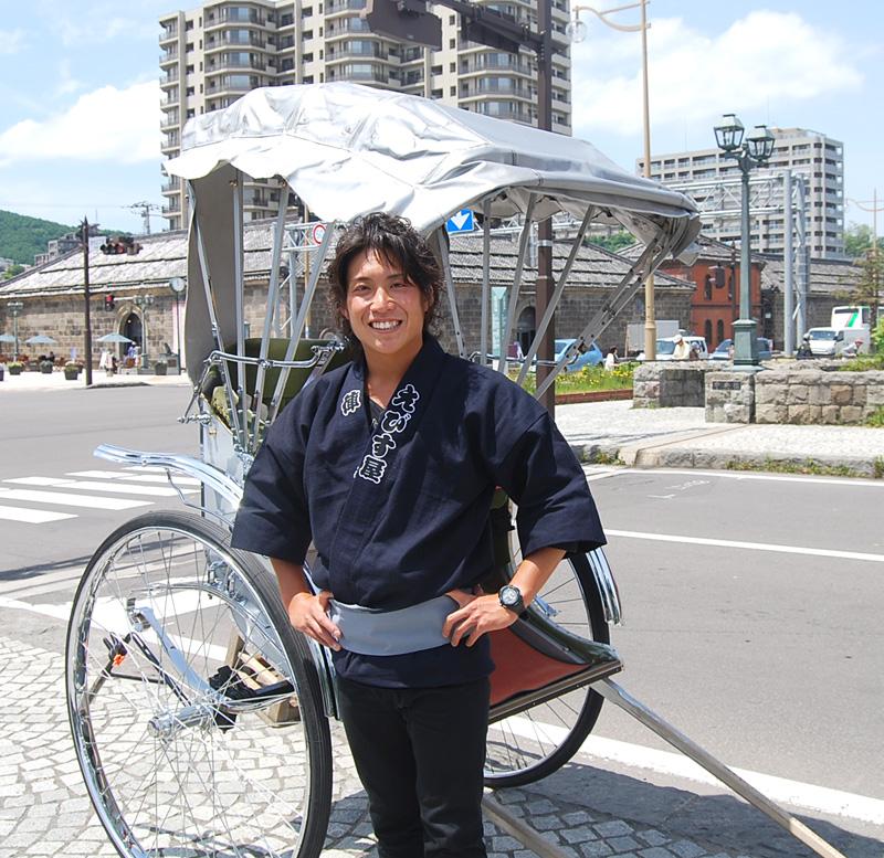 車夫人気No.1 関川 元太 氏(北海道出身)