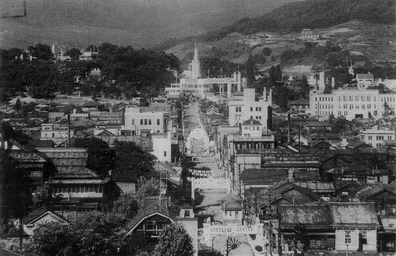 水天宮から小樽公園をみる 昭和12年(小樽市総合博物館蔵)
