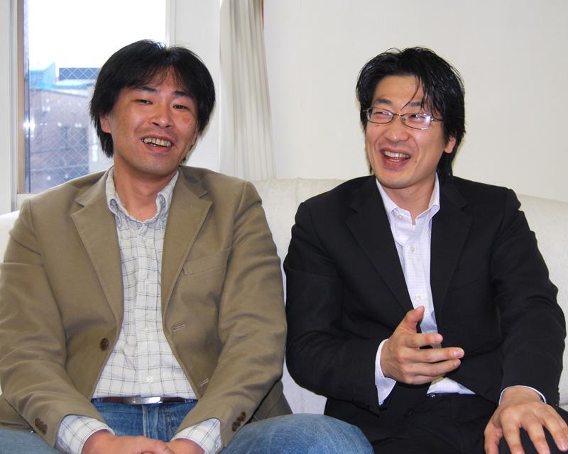 温井 俊行 氏(左)と簑谷 和臣 氏(右)