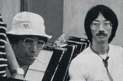 若き日の小川原 格氏(左) 佐々木一夫氏(右)