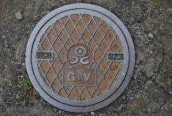 北ガスのマンホール     7用途7種類。サイズは150、300、400、430、600、700、800mmと様々。     小樽市内約1,950基。      表示も「☆」「瓦斯」「ガス」「ロゴマーク」など時代の経過で変化してきている。