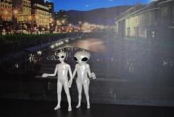 「小樽運河と宇宙人」