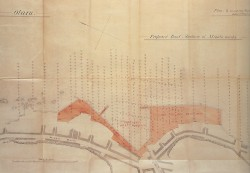 C・S・メークによる小樽港港町船溜計画図(港・入船町船入澗)