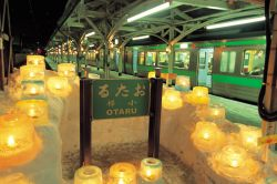 冬の小樽駅 (小樽FC製作の小樽観光写真素材集より引用)